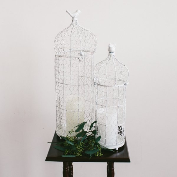 White Birdcages - Set of 2