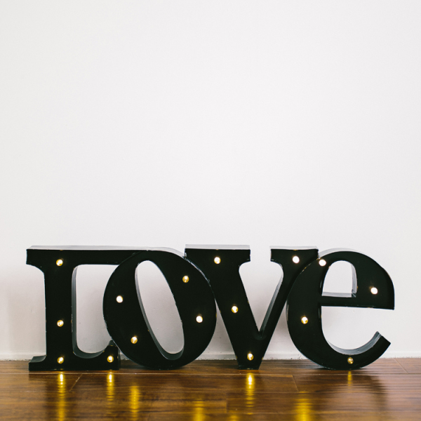 """Love"" Marquee Sign - Black"